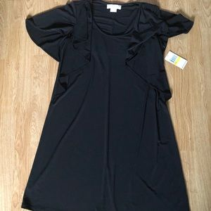 Michael Kors Black Knee Length Jersey Dress